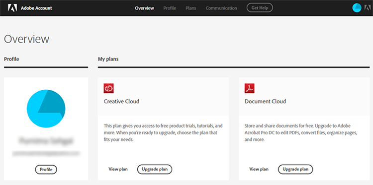 Get access to your Adobe ID account