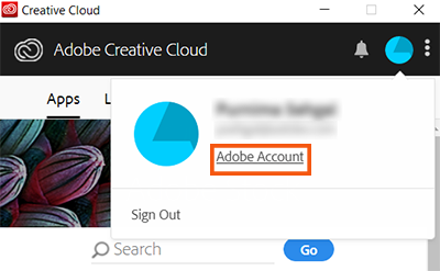 Manage Adobe Account