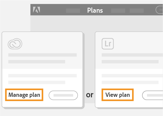 Click Manage plan or View plan
