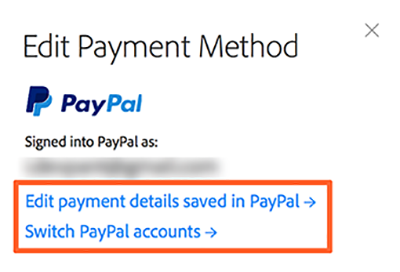 Edit Payment Method