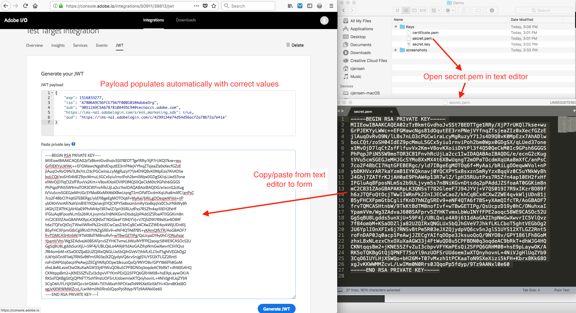 How to set up Adobe IO: Authentication - Step by Step