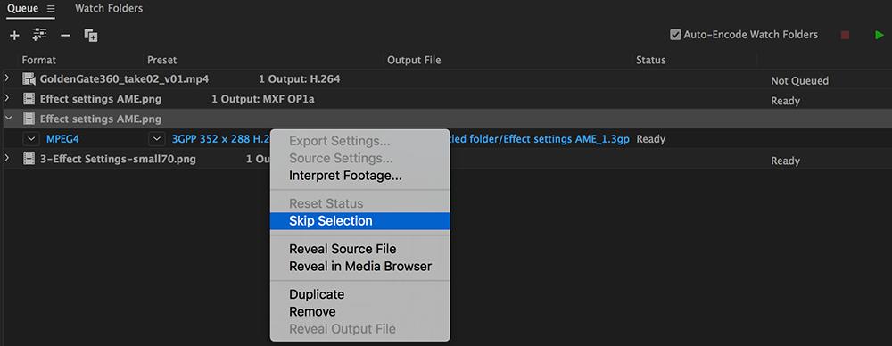 How to encode video or audio in Adobe Media Encoder