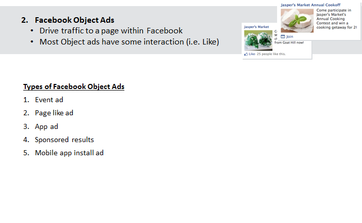 FB object ad