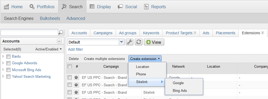 Where do I Create Ad Extensions in the AdLens Dashboard 1