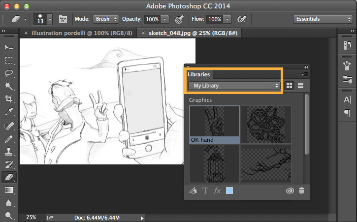 Figure 4: Open CC Libraries in Photoshop