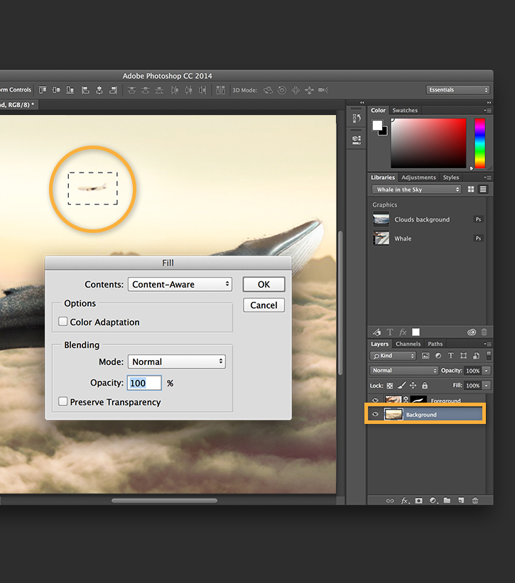 Refine your composite in Photoshop
