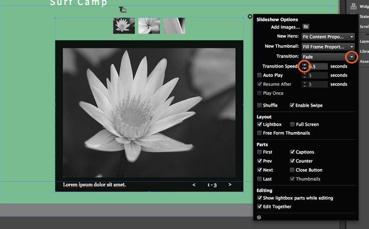 Using widgets | Adobe Muse tutorials
