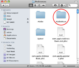 Drag the Adobe Muse folder to Trash.