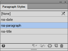 Paragraph Styles panel