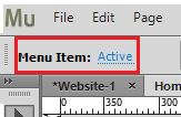 Selection Indicator set to Menu Item