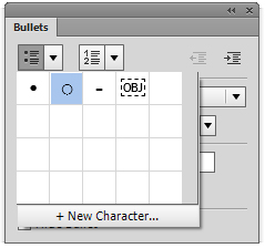 Bullets and numbering in Adobe Muse lets you create Bulleted lists and Numbered lists.