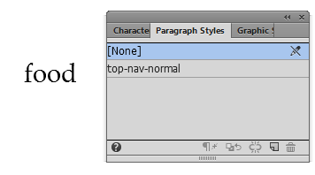 Create and rename a Paragraph Style in Adobe Muse