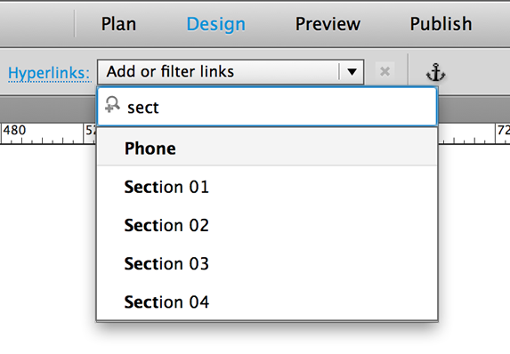 Hyperlinks options