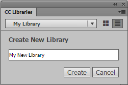 Create a new CC Library