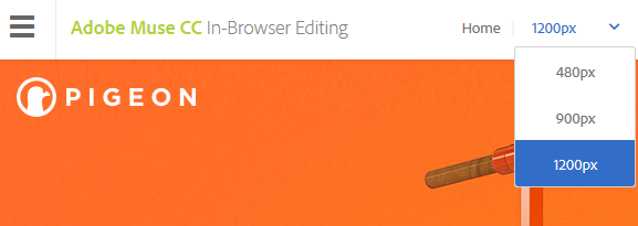 In-Browser Editing for responsive layout