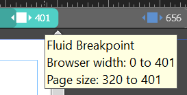 Fluid breakpoints