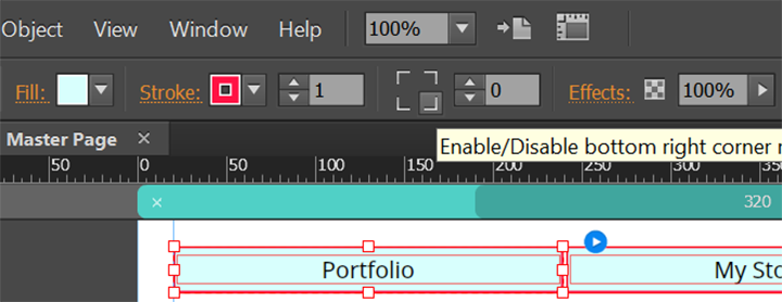 Apply Fill and Stroke settings to menu labels