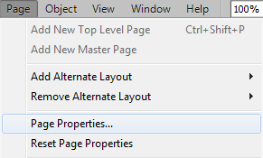 Click page properties