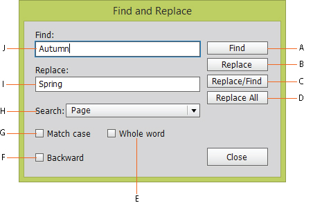 Find and relpace text in Adobe Muse