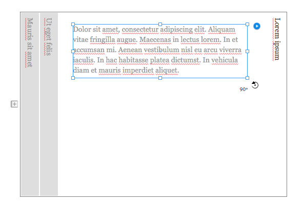 Rotate the existing placeholder text content if you want to display text in the content area.