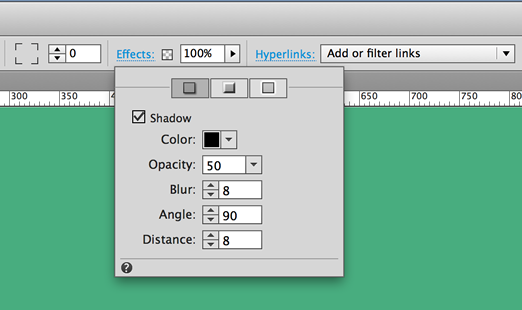 Add a shadow effect to the rectangle to create a more dramatic border.