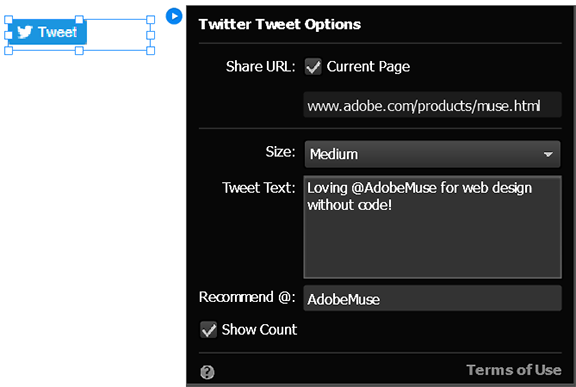 Configure the Twitter Tweet widget