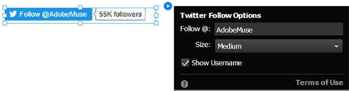 Configure the Twitter Follow widget