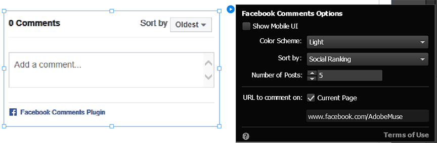 Configure the Facebook Comments widget