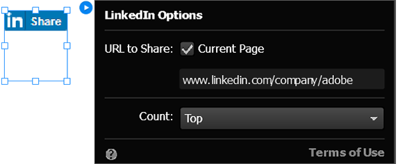 Configure the LinkedIn widget