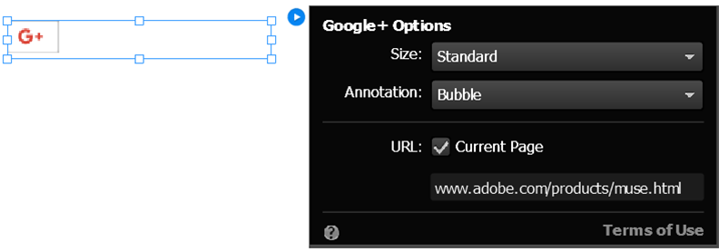 Configure the Google plus widget