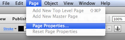Choose Page, Page Properties