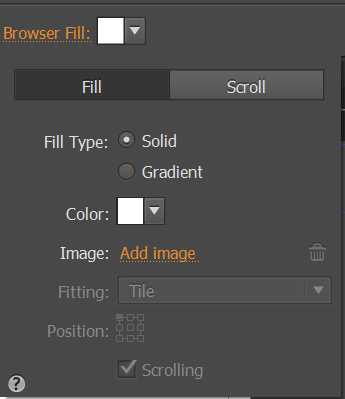 Set the background image that displays in the browser window.
