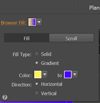 Set the Gradient Fill option