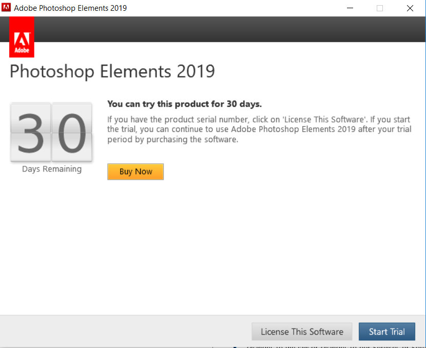 photoshop elements for mac free trial