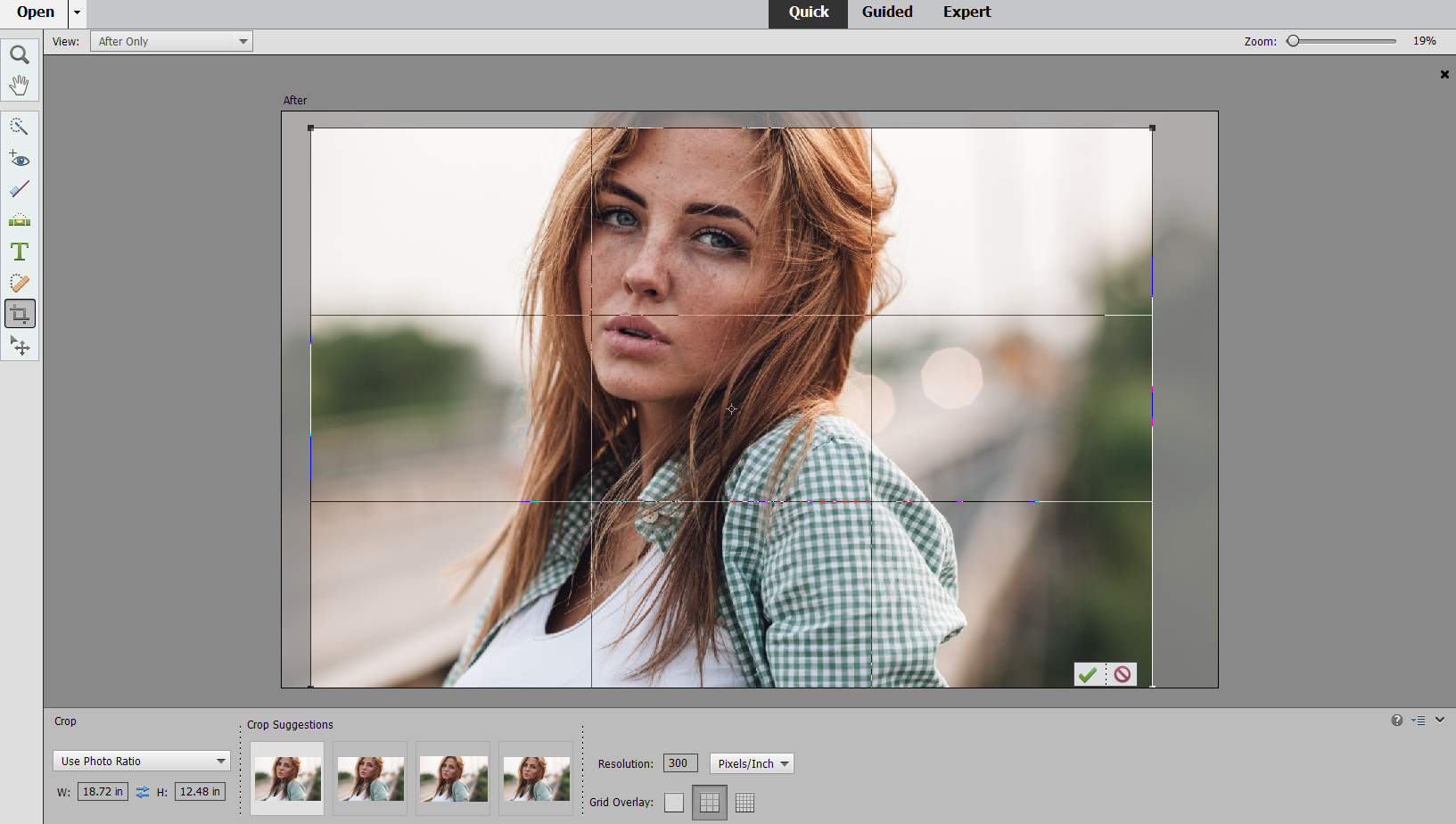 Crop Images In Photoshop Elements