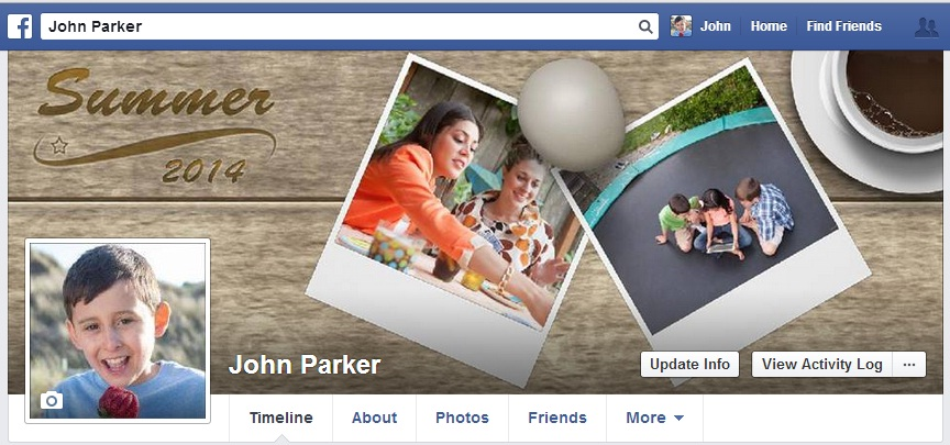 Facebook Cover photo - Multiple photos theme