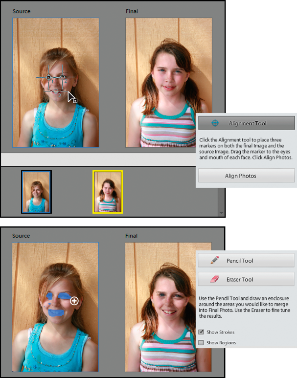 Photomerge Faces Guided Edit
