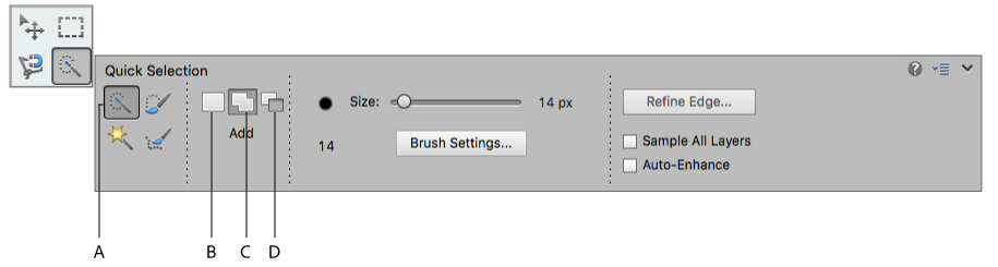 Quick Selection Brush tool