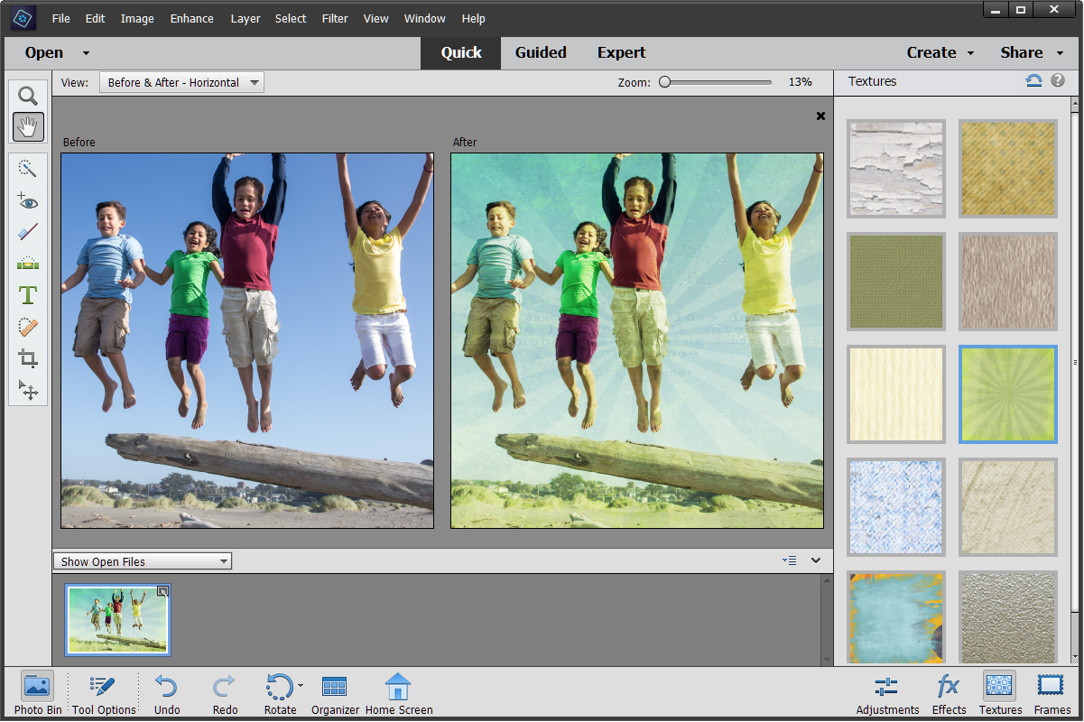 Enhanced Quick mode in Photoshop Elements
