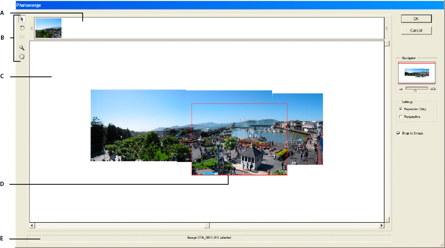 Photomerge Panorama dialog box