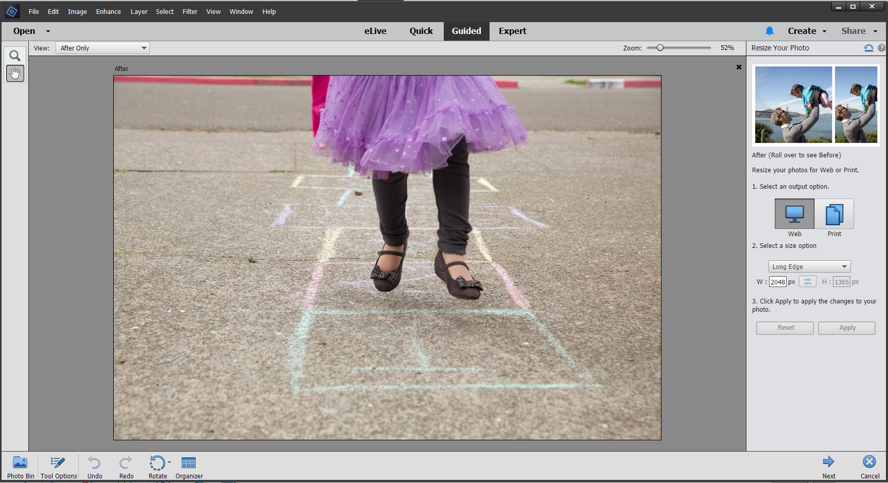 Photoshop elements workspace basics guided mode baditri Images