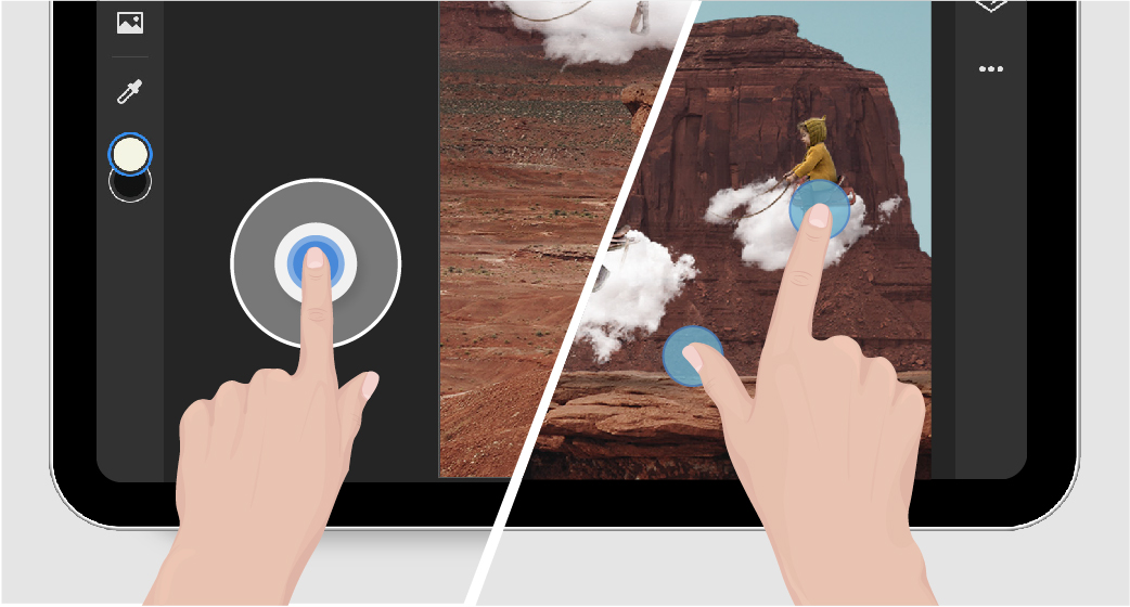 Touch shortcuts and gestures