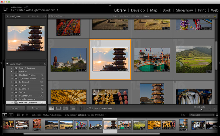 Start with an image in Lightroom