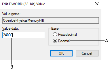 Modify registry key
