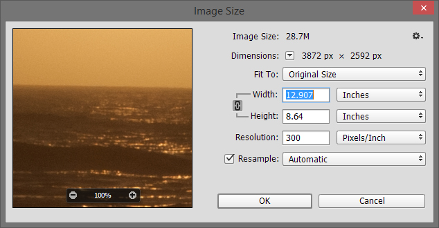 Reduce image resolution
