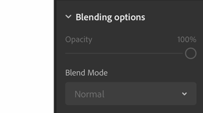 Blending options in Photoshop on the iPad