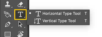 Select the Type tool from the toolbar