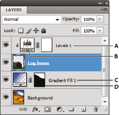 Photoshop Adjustment and fill layers