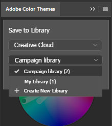 Adobe Photoshop color themes