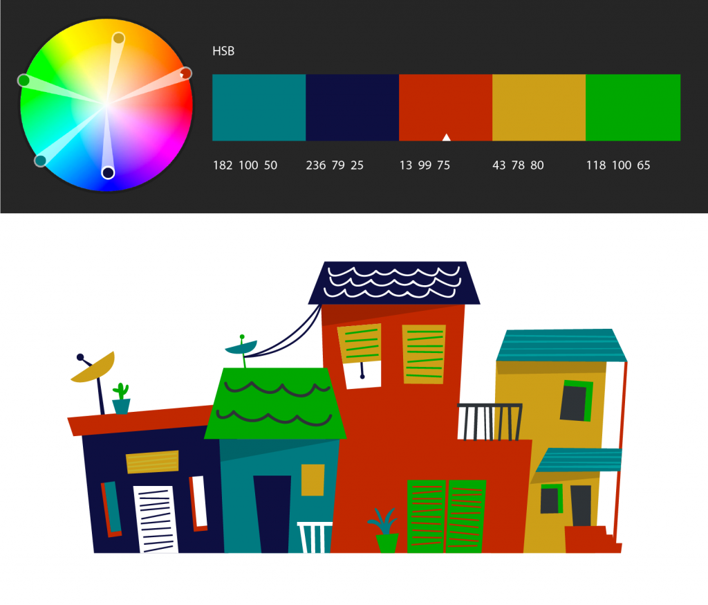 Photoshop create and save a color theme